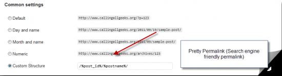 change WordPress permalink