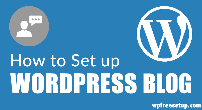 Setup WordPress Blog