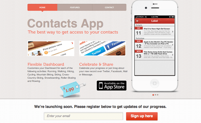 Free iOS App WordPress Theme – Darstell