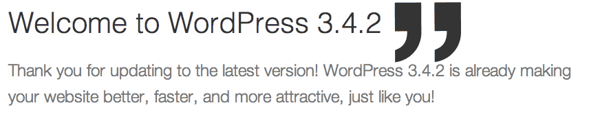 WordPress upgraded to latest Version