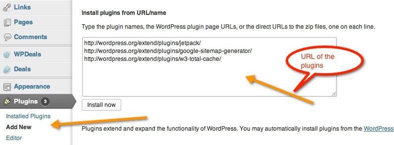 Install multiple WordPress plugins