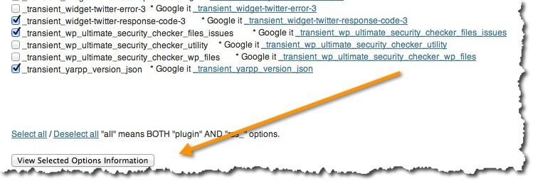 Clean options WordPress plugin