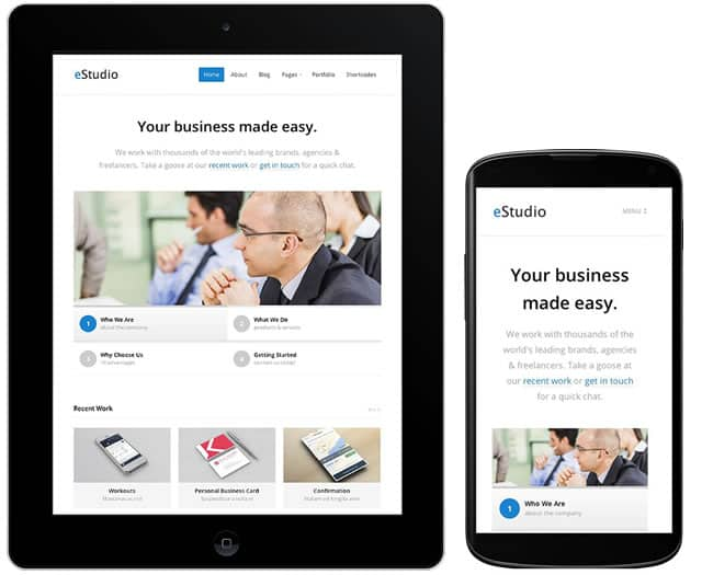 Download eStudio : A Responsive WordPress Business Blog Theme