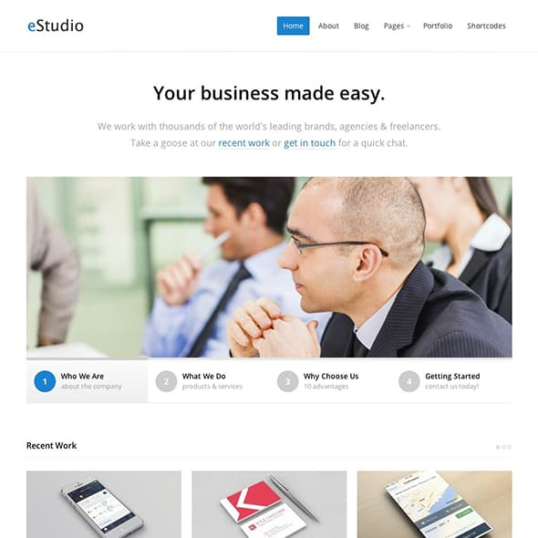 estudio business theme wordpress