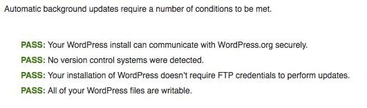Background Update Tester Check WordPress Auto-Update Compatibility