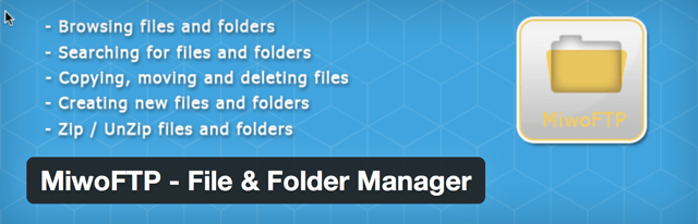 WordPress folder manager