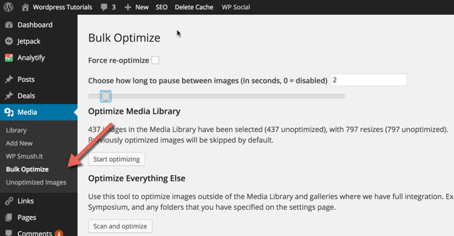 Bulk Optimize WordPress Images