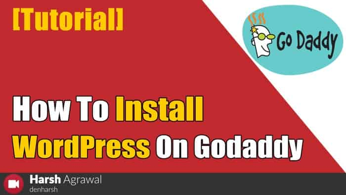 How to Install WordPress Blog on Godaddy Managed Hosting