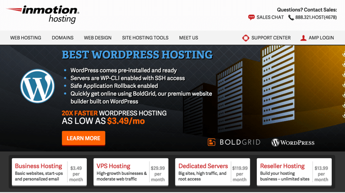 Inmotion WordPress cheap hosting