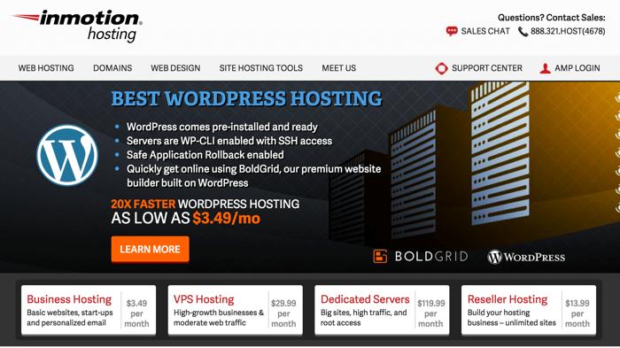 Inmotion WordPress cheap hosting