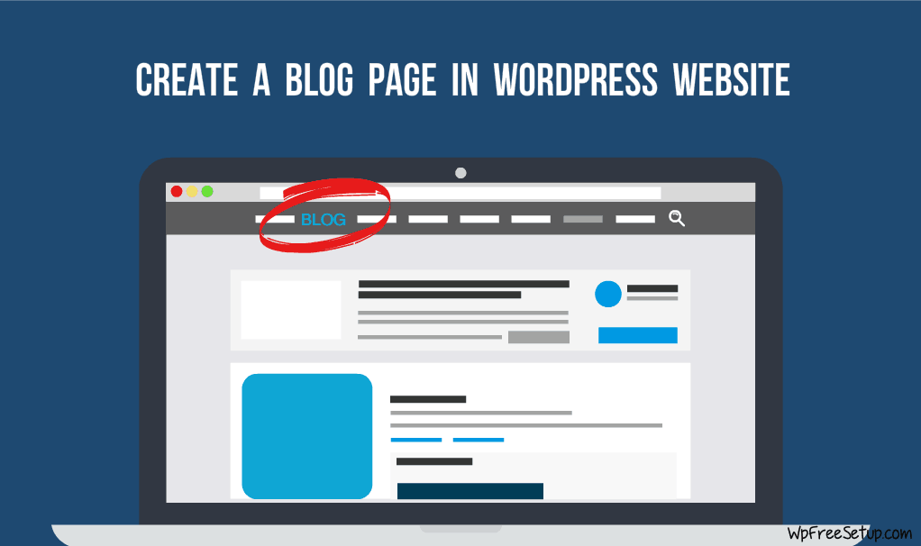 Create a Blog page in WordPress website