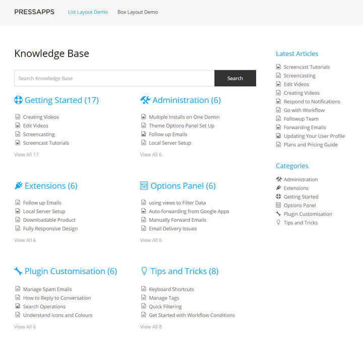 Knowledge Base Helpdesk Wiki WordPress Plugin