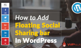 How to Add Floating Social Sharing bar in WordPress