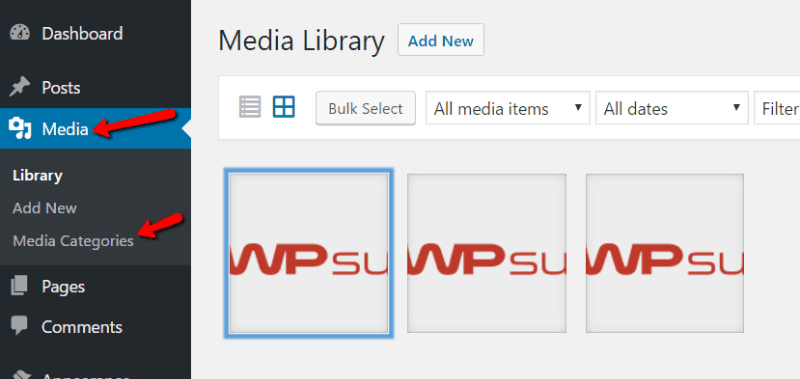 WordPress Media Categories