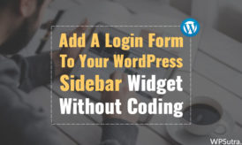 How To Add A Login Form To Your WordPress Sidebar Widget Without Coding