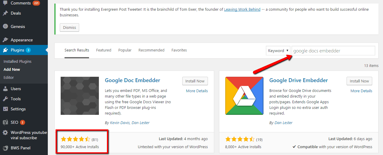 Add Google Docs Embedde WP Plugin