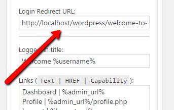 Login Redirect URL