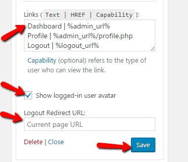 Logout Redirect URL