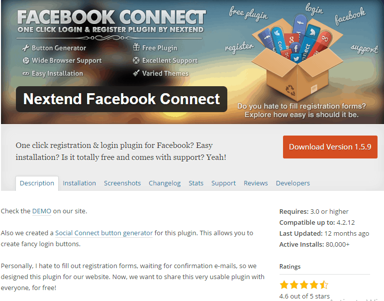 Nextend Facebook Connect Plugin
