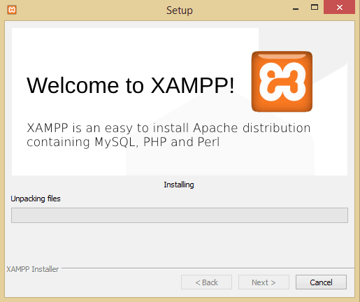 XAMPP Installation Process