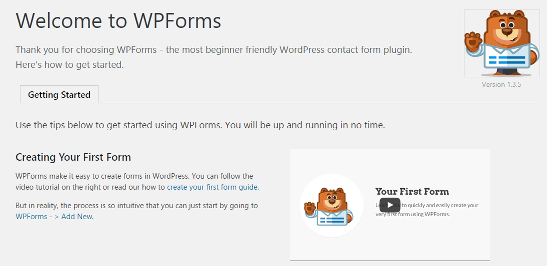 WPForms Plugin Activation