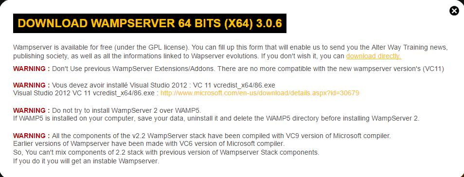 Wamp 64 bit