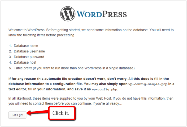 Install WordPress