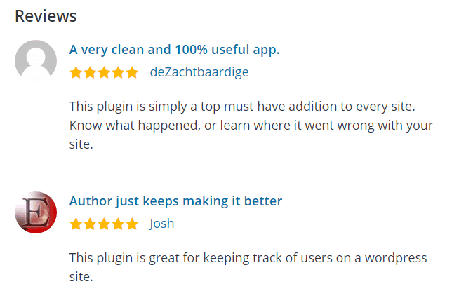 Simple History Plugin Reviews