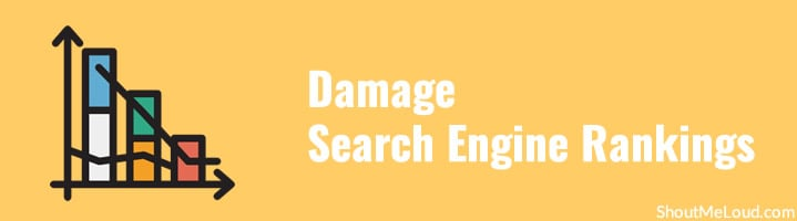 Damage Search Engine Rankings