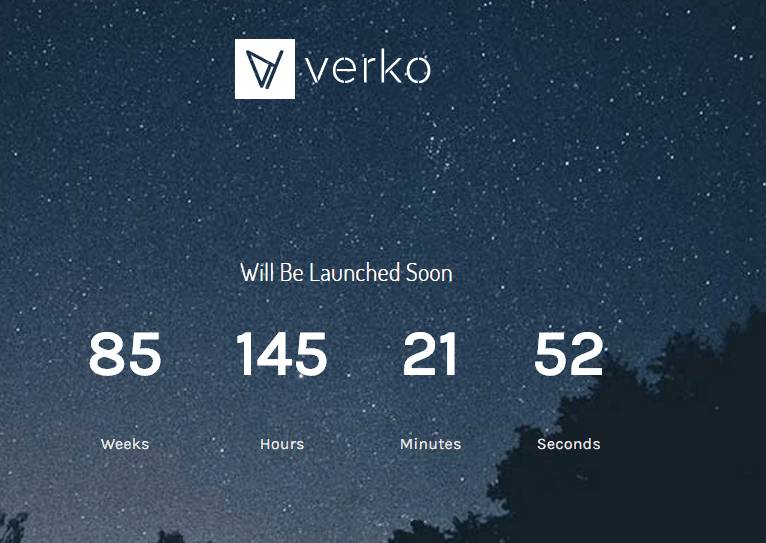 Verko WP Theme - Coming Soon Theme