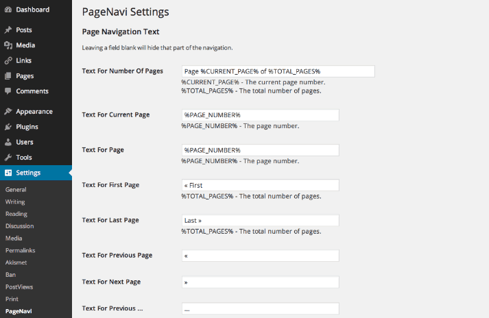 Pagination WordPress Plugin