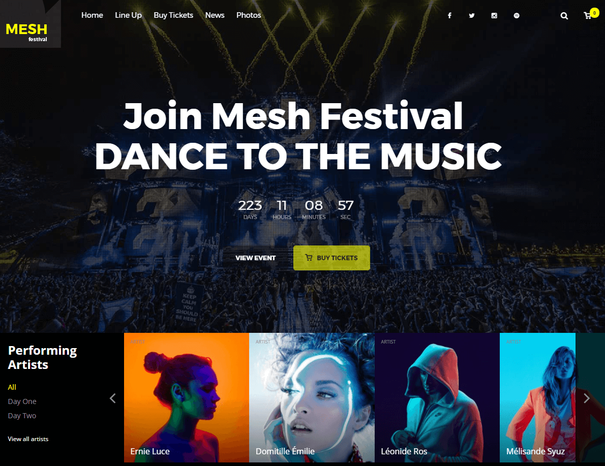 Mesh Event WP Theme