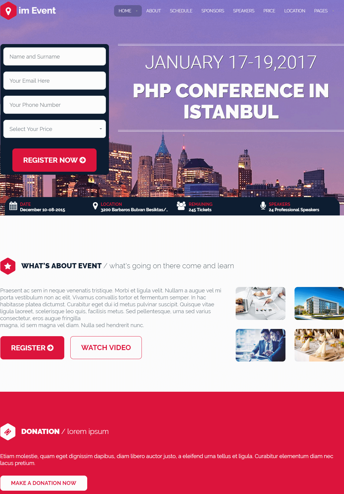 Event WordPress Theme