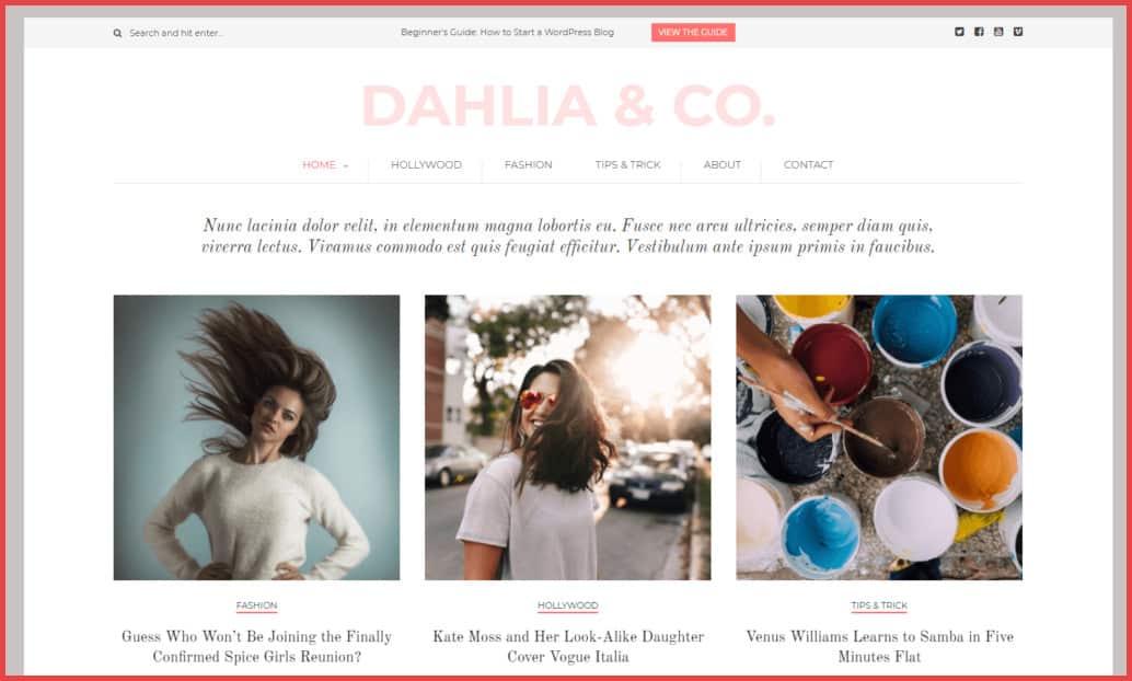 Dahlia-theme