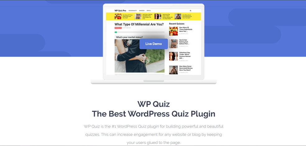 WP Quiz Pro Plugin for WordPress